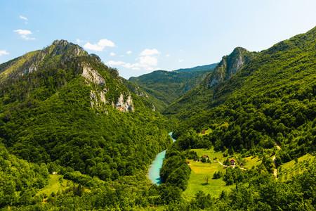 Каньон реки Тара в нац.парке Durmitor, вид с моста