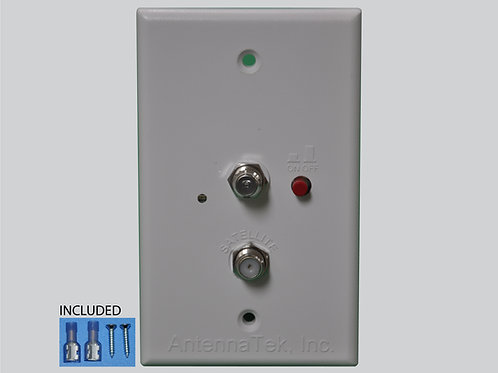 Wall Plate Power Supply, 2 TV/FM connectors