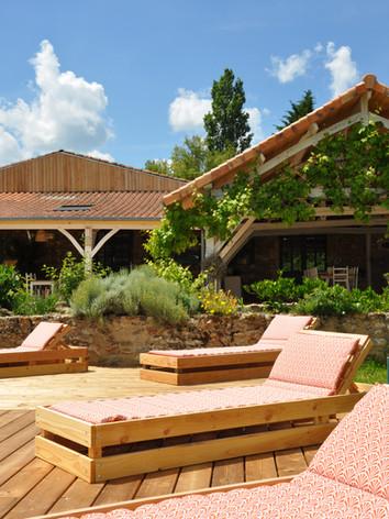 Terrasse piscine de La Salvetat de Cadou
