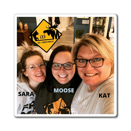Kat and Moose Photo Magnet
