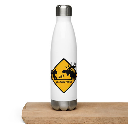 Kat and Moose Stainless Steel Water Bottle