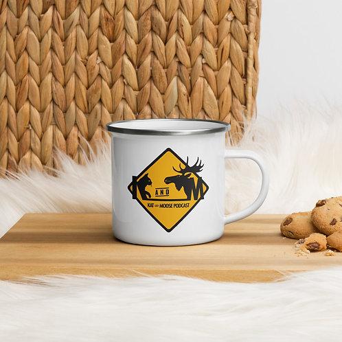 Kat and Moose - Enamel Mug