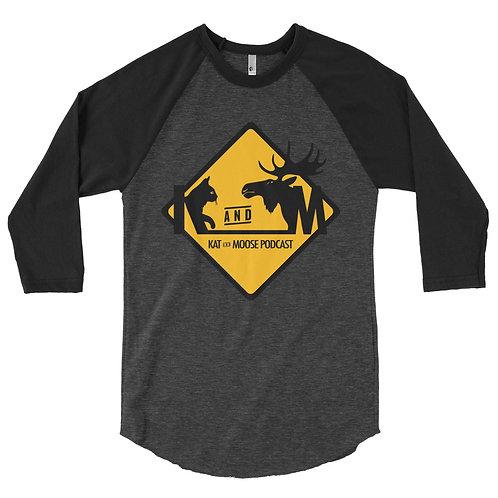 Kat and Moose 3/4 sleeve raglan shirt