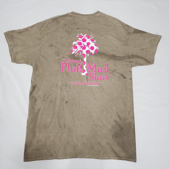Pink Polka Dot Palmetto Tree Short Sleeve