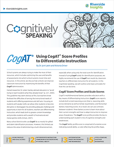 Cognitively Speaking_CogAT Score Profile