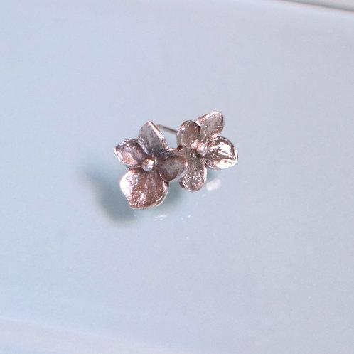 Petite Hydrangea Post Earrings