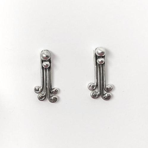 Silver Curls Earrings