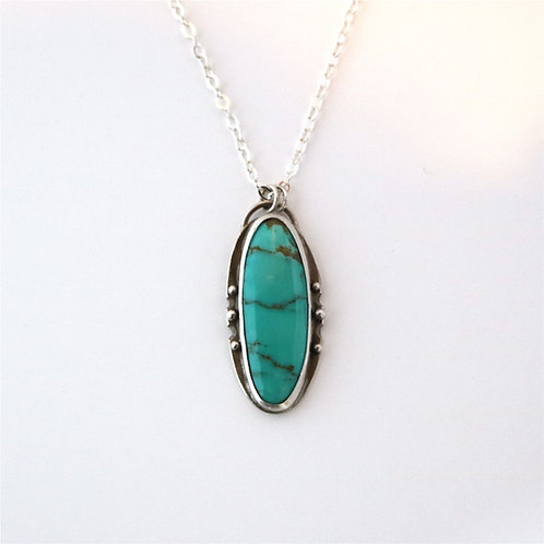 Turquoise w 6 Dots Necklace