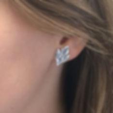 Silver Leaf Earrings Lisa Johnson Jewelry
