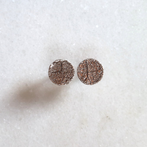 Leaf Texture Earrings -Small