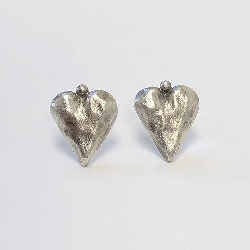 Tiny Heart Post Earrings
