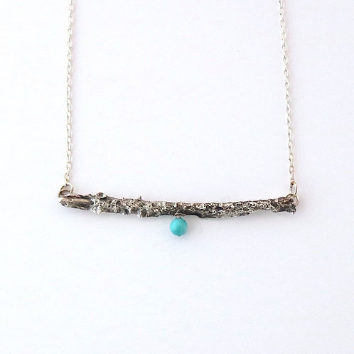 Twig One w Turquoise Necklace