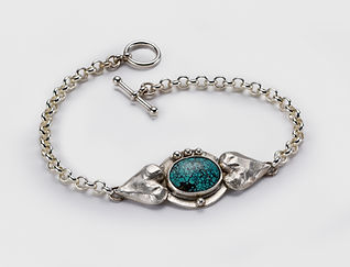 Silver Turquoise Bracelet Lisa Johnson Jewelry