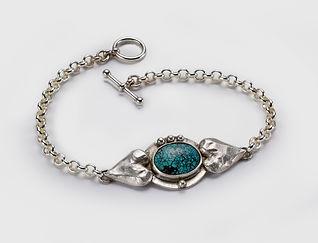 Silver Turquoise Bracelet Lisa Johnson Jewelry