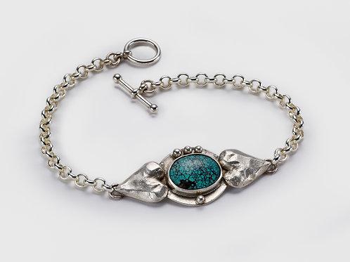 Hearts & Turquoise Bracelet
