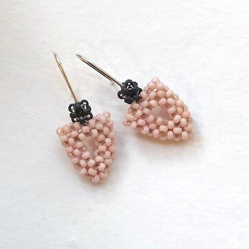 Arrowhead Earrings in Dusty Pink
