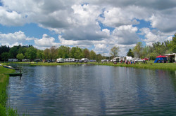 Lake side camping