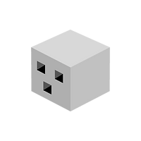 Grey Block Man