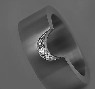 titaanisormus timanttisormus