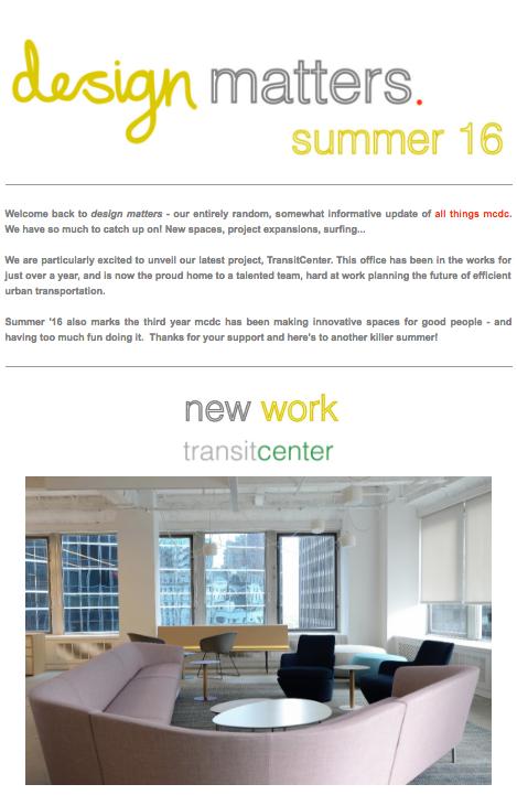 Design Matters : summer '16