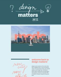 Design Matters : fall '17
