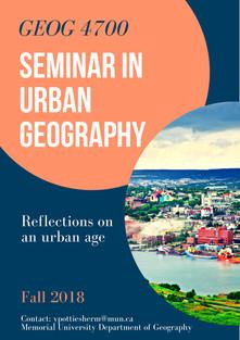 Seminar in Urban Geography