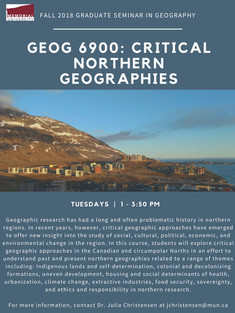 Critical Northern Geographies