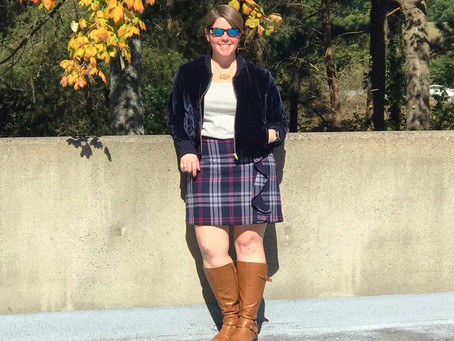 Outfit of the Day - A Little Plaid and Velvet!