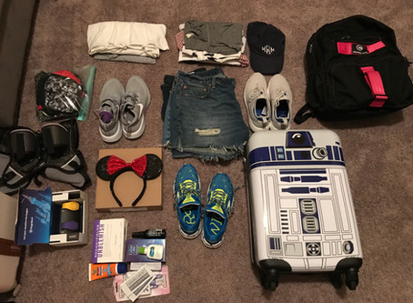 Run Disney Blog Series - Packing for Your Walt Disney Vacation
