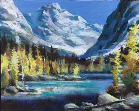 multi-colour oil painting titled SOLDTamaracks by artist brent heighton.