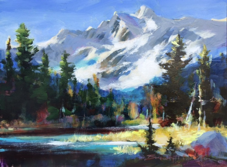 multi-colour oil painting titled SOLD-South Highway study JNP by artist brent heighton.
