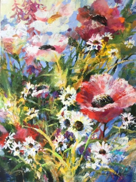 multi-colour oil painting titled SOLD - Ambrosia by artist brent heighton.