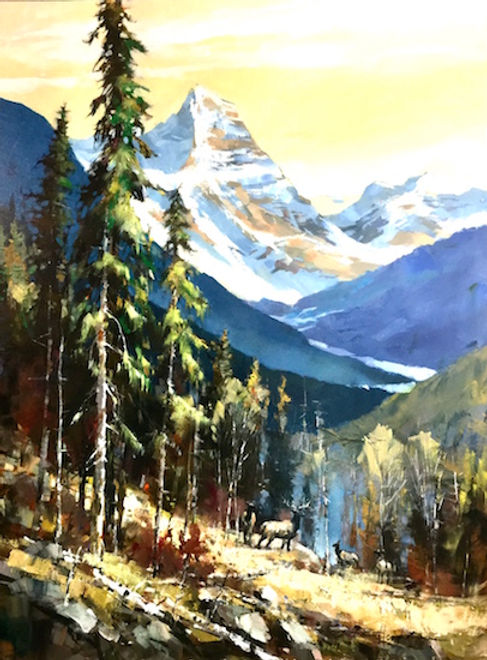 multi-colour arcylic painting titled High Country Serenade by artist brent heighton.