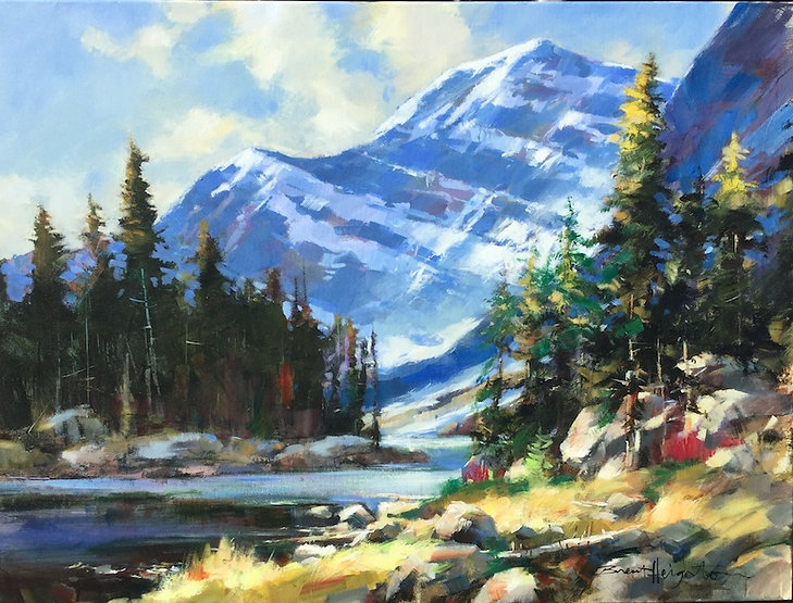 multi-colour oil painting titled SOLD-Edith Cavell by artist brent heighton.