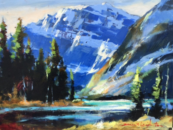 multi-colour oil painting titled SOLD-Soft light by edith Cavell by artist brent heighton.