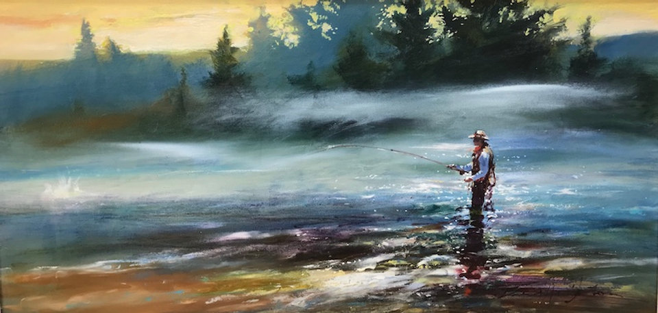 multi-colour oil painting titled Early Risers by artist brent heighton.