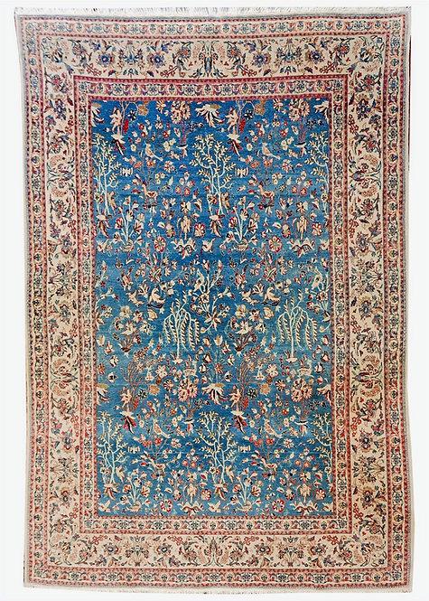 TAPPETO NAIN TUDESHK ANTICO TRAMA SETA MIS:232x152 cm