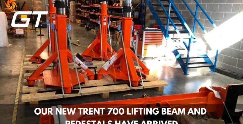 NEW TRENT 700 LIFTING BEAM & PEDS