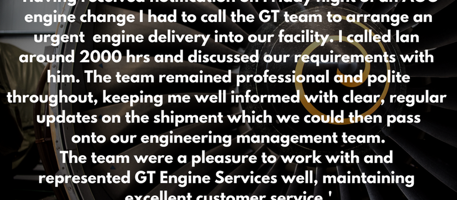 Some great feedback received this week from one of our customers....