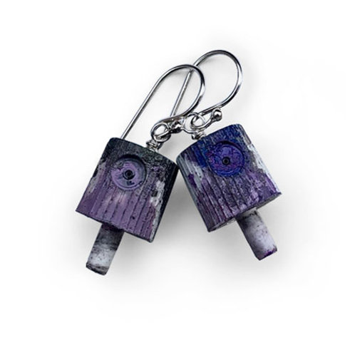 Ruusa NY FAT Earrings - Purple