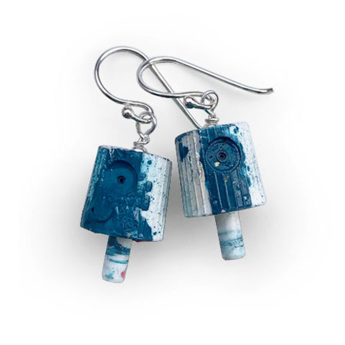 Ruusa NY FAT Earrings - Turquoise Blue
