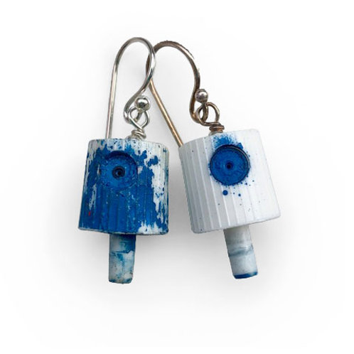 Ruusa NY FAT Earrings - Dark Blue