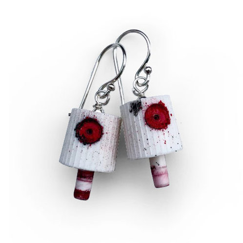 Ruusa NY FAT Earrings - Red 1