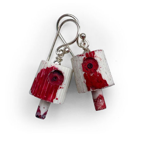 Ruusa NY FAT Earrings - Red 2