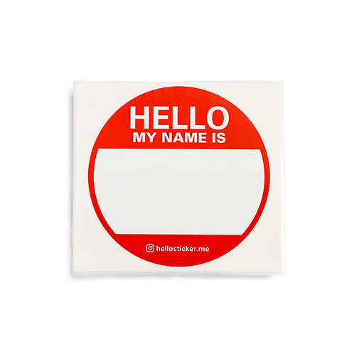 Scratch Hello Sticker Circle - Fire