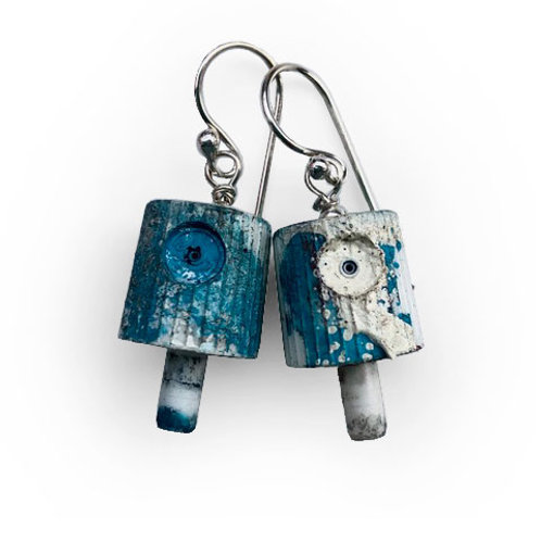 Ruusa NY FAT Earrings - Turquoise Ocean Mix