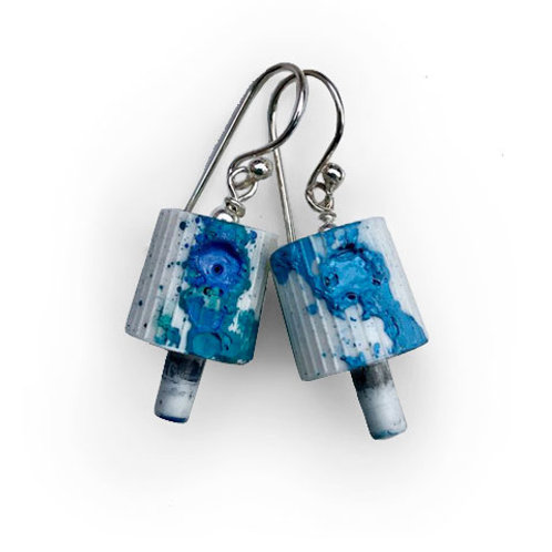 Ruusa NY FAT Earrings - Sea Blue