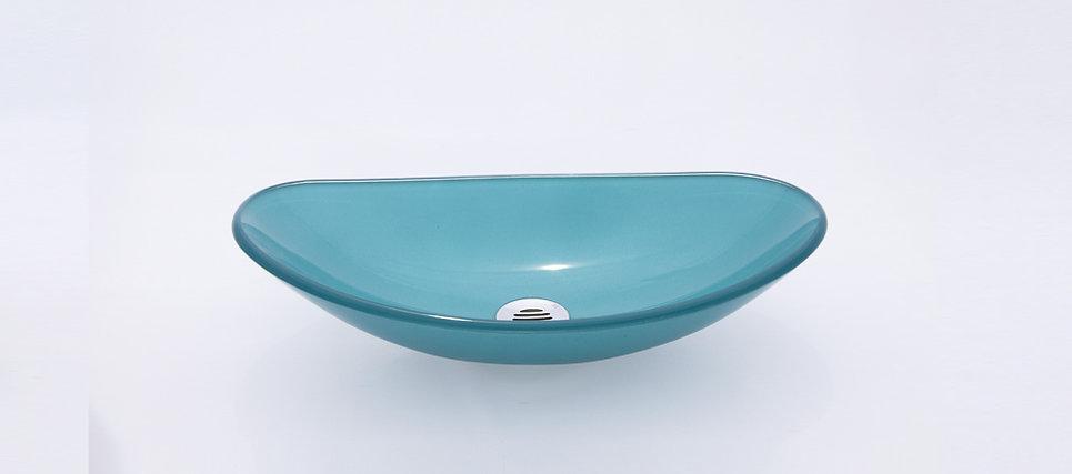 כיור זכוכית אובלי סירה קטן