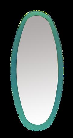 מסגרת זכוכית אובלית למראה צפה