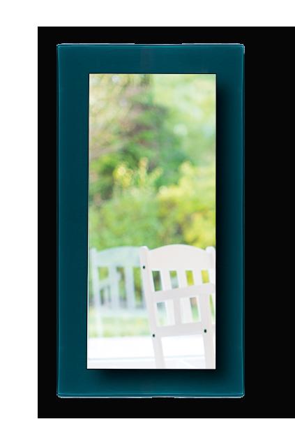 מסגרת זכוכית ישרה למראה צפה 39*90